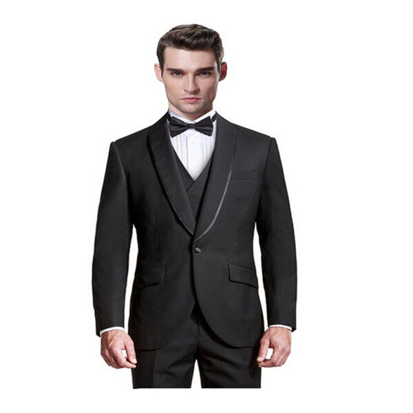 men suits Man's leisure suit three-piece / 1 button the groom's best man wedding/ dress custom (coat and pants)