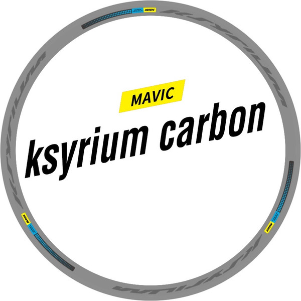 Two Wheel Set Stickers for Mavic Ksyrium 24mm Carbon Water Proof Sticker for Road Bike Race Cycling Bicycle Decals #335789
