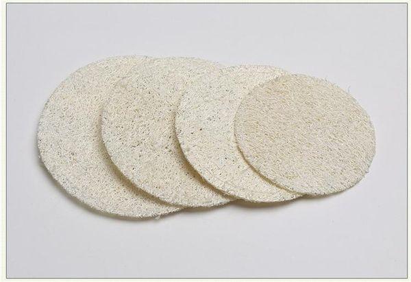 Coussin rond naturel pour Loofah 5.5cm / 6cm / 7cm / 8cm Makeup Remove Loofah exfoliant et peau morte