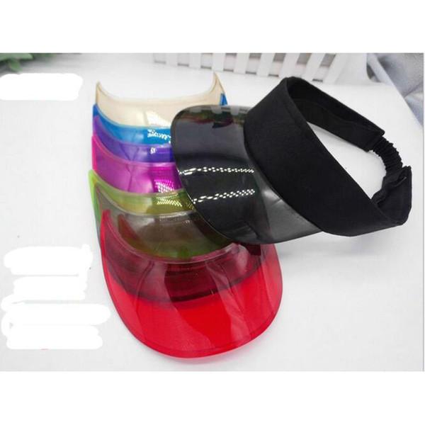 New Summer UV Plastic Visor Sun Hats Men Outdoor Clear Dealer Tennis Beach Hat Protection Snapback Caps