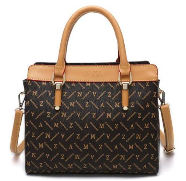 top popular Hot fashion Ms female single shoulder bag handbag multicolor printing high-grade hand the bill of lading shoulder aslant leather women 2020