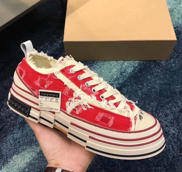 Casual Shoes XVessel G.O.P. Lows Canvas Shoes Mens Women TOP Quality Fashion Designer Vessel Tripe S Piece by Piece Speed shoes er71