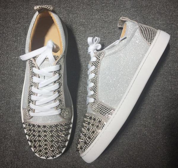 Modedesigner-Spitzen-Ebenen beschuht rote untere Schuhe für Frauen-Mens-Luxuspartei-Liebhaber-echtes Leder-Turnschuhe w03 GRÖSSE: 35-47