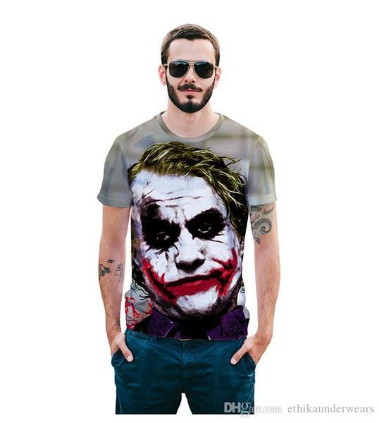Hommes de DESIGNER d'été T-shirts 3D vilain clown T-shirt imprimé T-shirts manches courtes Tops
