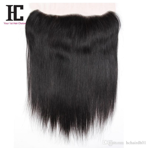 """7A Peruvian Virgin Hair Straight Lace Frontals Closure 1 Bundle Soft Peruvian Straight Virgin Hair 13""""x4"""" Lace Frontal Closure"""