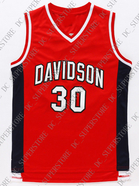 best loved 83c75 7b42c 2019 Cheap Wholesale Steph Curry Jersey 30 Davidson College Wildcat Sewn  Basketball Jersey Customize Any Name Number MEN WOMEN YOUTH From ...