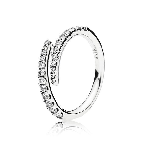 New arrival Luxury designer jewelry CZ Diamond RING Original Box for Pandora 925 Sterling Silver Shooting Star Ring