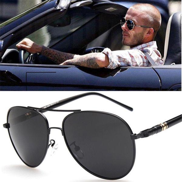 Luxury Sunglasses Men polarizada HD UV400 Pilot Aviation Driving Vintage Retro Masculino Sun Óculos de metal Acessórios armação dos óculos