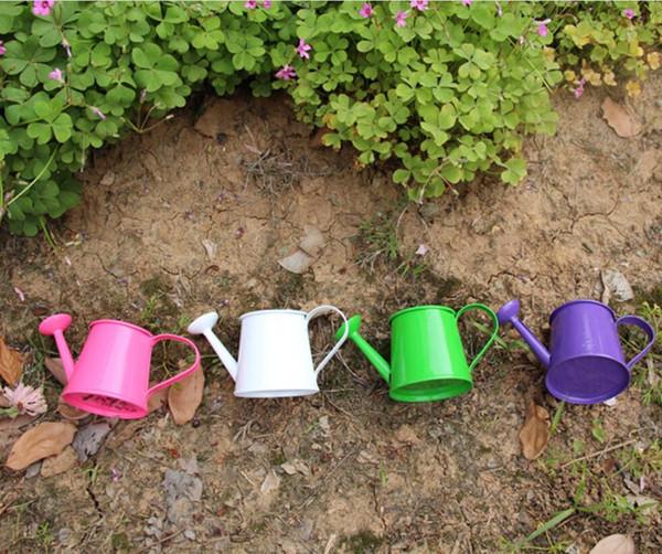 Decoração de casa barril pequeno arranjo de flores plantio de carne em vaso de Desktop decorativo vaso de flores mini chaleira molhando