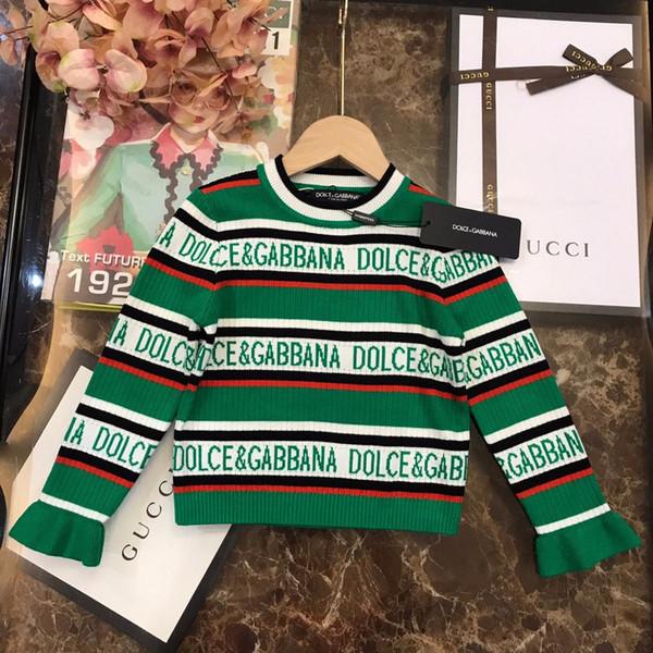 Kinderbekleidung Markenkleidung 2019 neue Mädchen Pullover Pullover Rundhals Trend Langarm-Bluse High-End-Shirt