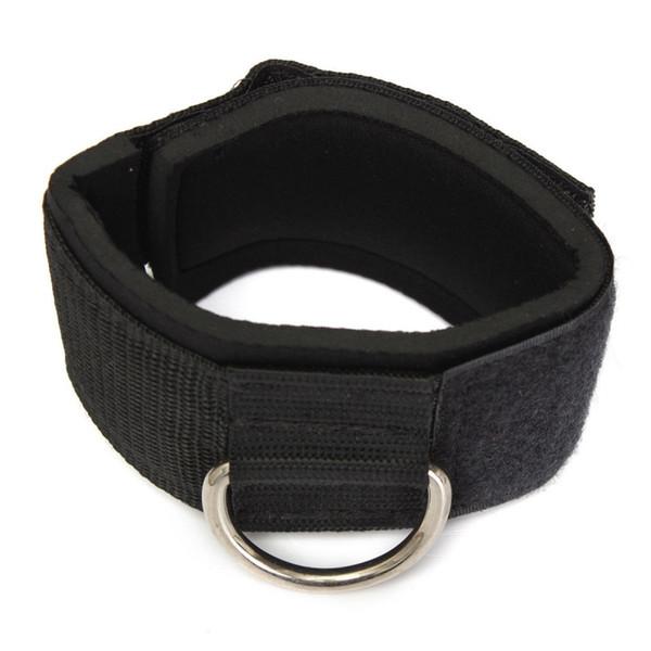 TOP! -Anneau de sangle D-ring Multi Gym Câble Attachement Cuisse Jambe Poulie Poids Noir