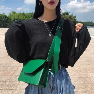 Nuova borsa a tracolla donna Nuovo design Colore rosso Happy Color Tofu Shape Mini catena quadrata rotonda Unique Buckle Small Bag Y190619