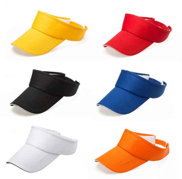 Verano vacío Top visera sombrero de los deportes de tenis hombres del casquillo de Sun de las mujeres Hast ajustable casual color sólido de golf al aire libre masculino Caps Cap Mujer dc234