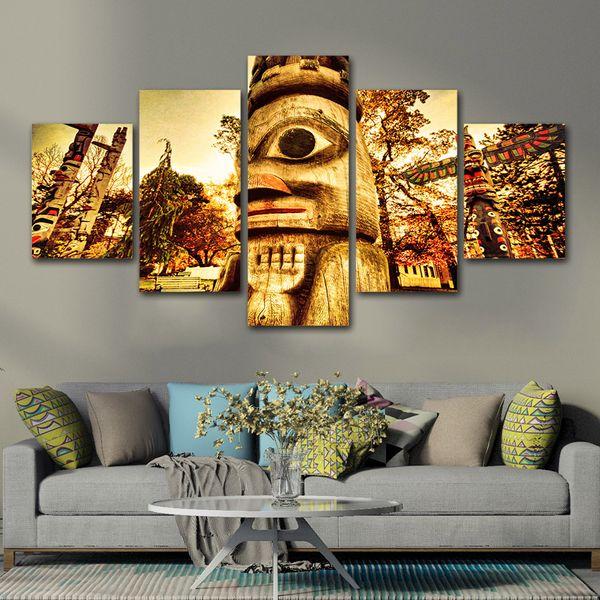 Acheter 5 Panneau Moderne Affiches Et Gravures Horreur Jardin Hanté Toile Mur Art Peinture Rétro Mur Photos Pour Salon Home Decor De 36 98 Du