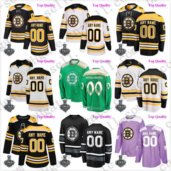 top popular Boston Custom Bruins hockey jersey 50 Binnington Brad Marchand David Pastrnak 2019 Stanley Cup Final champions mens youth lady 4xl 5xl 6xl 2019