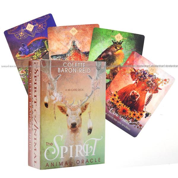 O Oráculo do espírito animal A plataforma 68-Card e eletrônico Guia do Oracle Adivinhação Baron Reid Insects Peixe Cartão Board Game