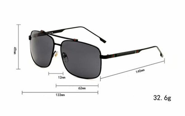 Clássico da moda Costa Óculos De Sol Da Marca Designer Óculos Dos Homens de Condução Quadrado Óculos De Sol Para Os Homens de Condução Óculos de Revestimento Preto Esporte de Vidro Sol