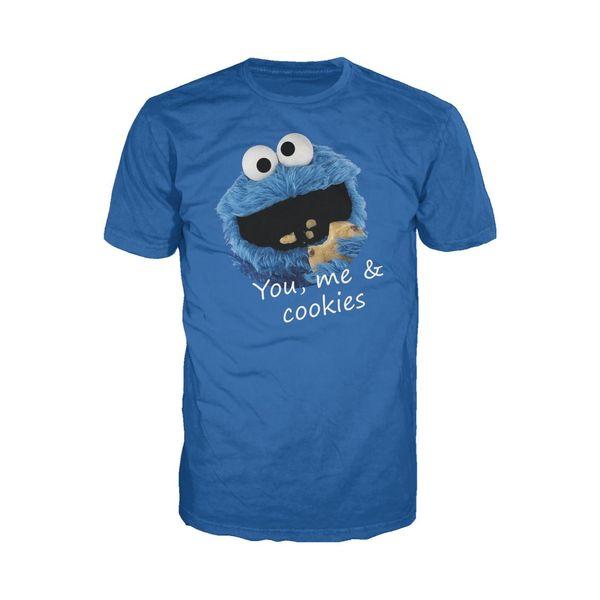 Sesame Street Cookie Monster, vous-même moi le t-shirt pour femme officiel des hommes (bleu) t-shirt à la mode unisexe