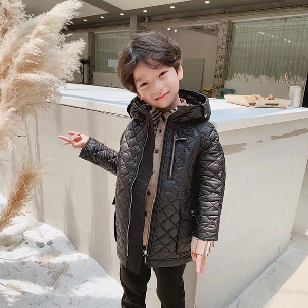 STOCK! free shipping Boys coats winter jacket kids down cotton coat Waterproof snowsuit jacket Hooded parka girls down coats