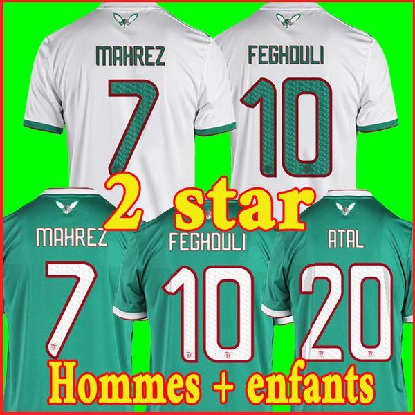 2019 2 sterne Algerien FUSSBALL JERSEYS AFCON MAHREZ BRAHIMI BOUNEDJAH BOUAZZA 19 20 algerie JERSEY FUSSBALL SHIRTS