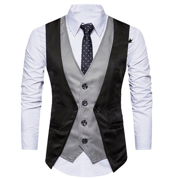 Hombres de Tweed formal de verificación de doble botonadura chaleco retro slim fit traje chaqueta chalecos para hombre vestido chalecos para hombres slim fit