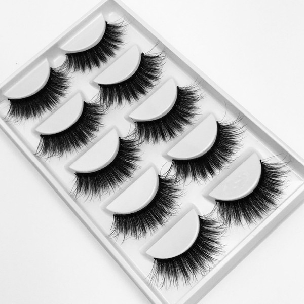 NEW 1 box mink eyelashes natural long 3d mink lashes hand made false lashes plastic cotton stalk makeup false eyelash