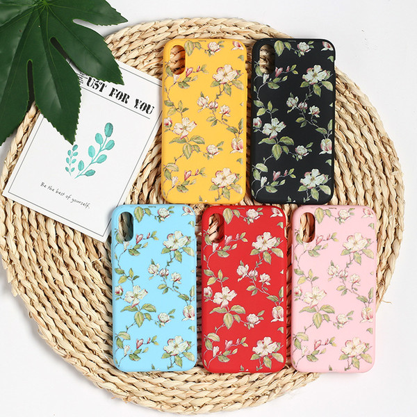 Floral Arts Phone Cases Painted Soft For Iphone Xs Max Xr TPU Multicolor Cell Phone Case For Iphone 6 7 8 X Plus