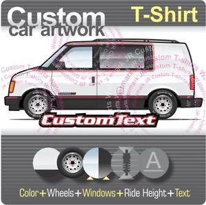 Custom T shirt 1985 86 87 88 1994 Chevrolet Astro GMC Safari window panel van LT