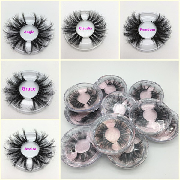 best selling 25MM 3D Mink Eyelashes False Eyelashes 100% Mink Eyelash Extension 5d Mink Lashes Thick Long Dramatic Eye Lashes