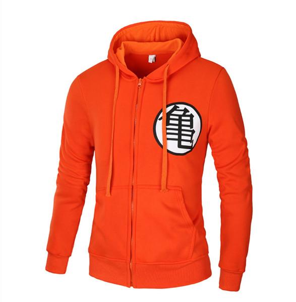 Herbst Frühling Gedruckt Sweatshirt mit Reißverschluss Hoodies für Männer Langarm Casual Hoodies harajuku Orange Sweatshirts