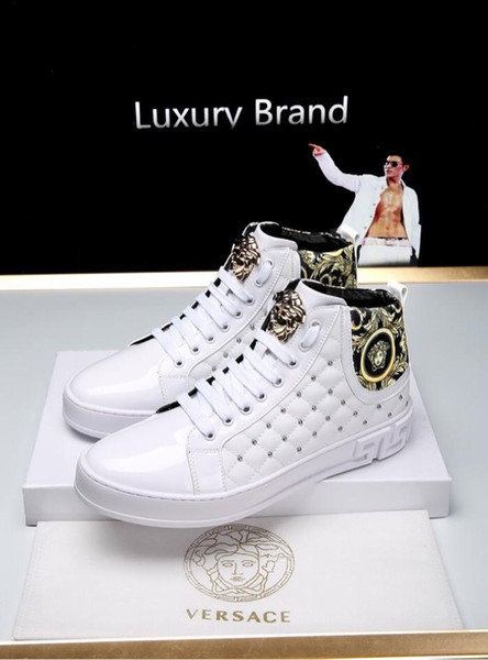2019o été nouveau style bottes décontractées hommes de la personnalité de la marque de style, baskets à lacets sauvages de la mode de haute qualité, taille: 38-44