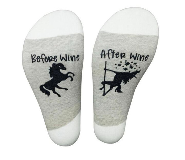 Before Wine/After Wine Drunk Offset Cotton Casual Foreign Trade Socks new style fashionable free shipping
