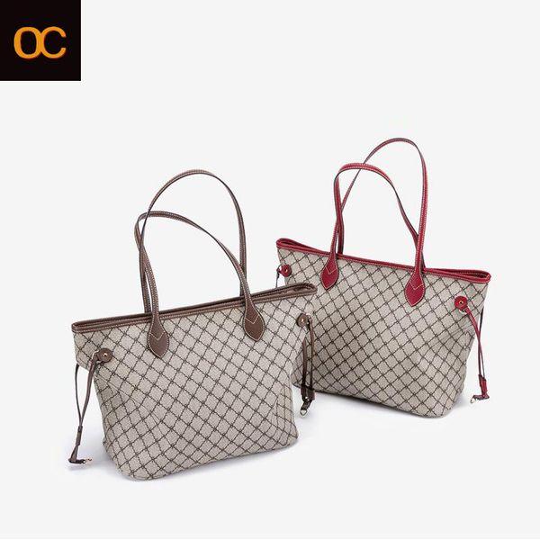 Old Cobbler Frauen klassische Handtasche Hochwertige beschichtete Leinwand Kosmetiktasche einzelne Umhängetasche Mode Mutter Taschen Kostenlose Lieferung
