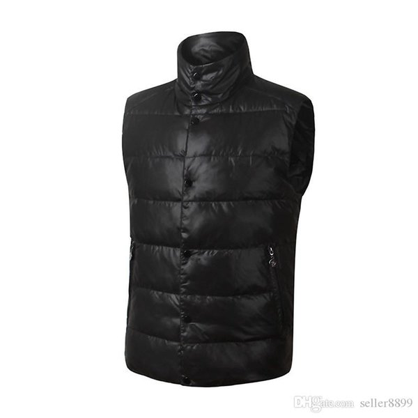 Designer brand Men winter down vest Classic feather weskit jackets mens casual vests coat outer wear size:XS-XXL