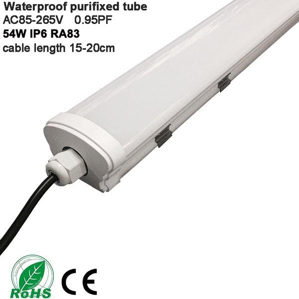 Pri-proof geführte Leuchtröhre IP65 Reinigungsbefestigung 4ft 1200mm 54W imprägniern geführte Leuchtröhre ersetzen Leuchtstofflampe neue Art AC85-265V