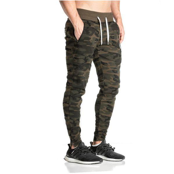 New Gym Leisure Camouflage Skinny Jogger Pants Men New Fashion Harem Pants Pantaloni della tuta Pantaloni da uomo