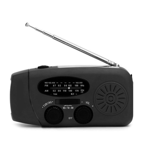 Multifunctional Hand Crank Radio Dynamo Solar Powered AM/FM/NOAA Weather Radio Emergency LED and Power Bank Use