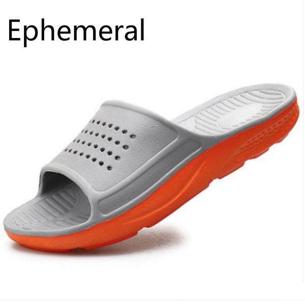 Zapatillas de pvc de plástico para hombre Toboganes de masaje de punta abierta Colores mezclados Gris Negro Azul Gris Zapatos de baño Antideslizante Calzado de interior 49 5