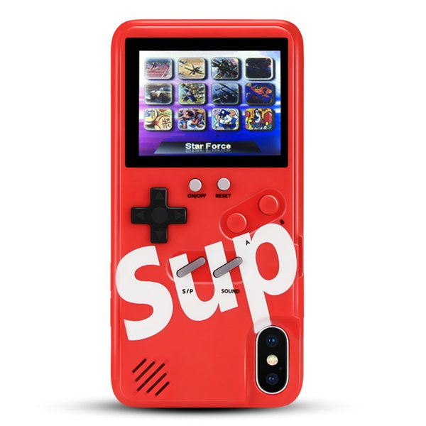 7 8 Plus X XR Colored LCD Screen Children Game Player Phone Case for iPhone Xs Max Gift Handheld Game Console