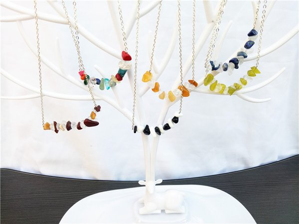 cecmic colorful crystal beads necklaces for women in chokers natural quartz beads gemstones jewelry fashion sets for girls
