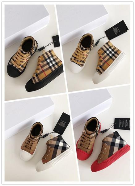 Burberry 2019 Créateurs de mode Hot Kids BBR Casual Sneakers boys Girls Letter Pattern Chaussures pour enfants