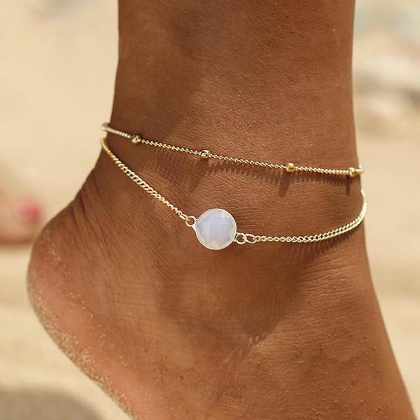 2 ADET / TAKıM Kristal Yıldız Kadın Halhal Yalınayak Tığ Sandalet Ayak Takı Yeni Halhal Kadınlar Için Ayak Bileği Bilezikler Bacak Zinciri