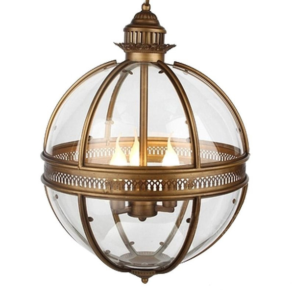 Vintage Glass Chandeliers Ball Clear Glass Pendant Lamp Modern Round Ball Led Hanging Lamp Sphere Cord Pendant Light Loft New Fixture