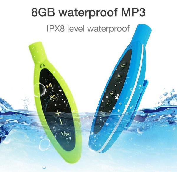 8 Go IP68 Étanche Lecteur MP3 Hi-Fi Lecteur Audio Sans Perte Musique Support FM Radio Pour La Baignade Surf Surf Drop Shipping
