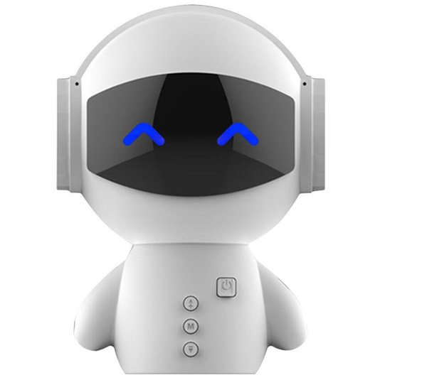 2019 New Cute portable Robot Bluetooth Speaker Stereo Handsfree Noise Cancelling AUX TF MP3 Music Player Cell phone Call