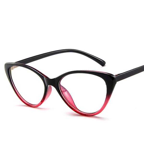 السيدات cateye النظارات إطارات كاملة حجب واضح عدسة نظارات القراءة الكمبيوتر النوم أفضل للنساء الرجال