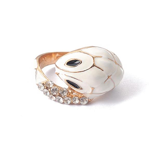 Anelli del serpente di modo di YWOSPX per il commercio all'ingrosso a goccia dei gioielli animali d'annata dell'anello punk della lega della lega del processo del gocciolamento