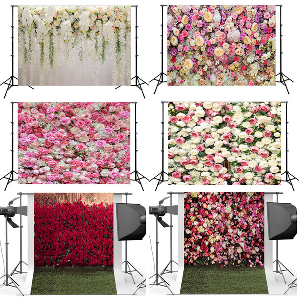 3D Künstliche Blume Hintergrund Tuch Hochzeit Nehmen Foto Rose Hintergrund Kleidung Simulierte Blumen Kulissen Dekoration Neue Ankunft 26hsa L1