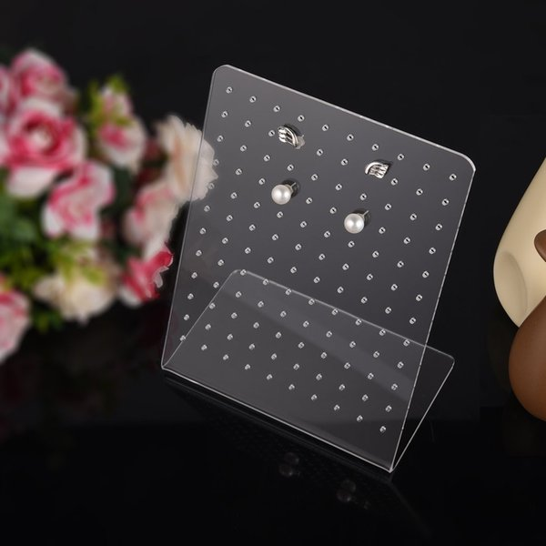 wholesale 3pcs/Pack 120 Holes Clear Plexiglass Earrings Display Stand Holder Showcase Rack Ear Studs Organizer Jewelry Show Case