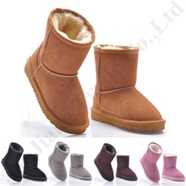 kids designer shoes Australia ug Boys girls children baby warm furry snow boots Teenager Students Snow Winter fur boots Size 22-34 C72910